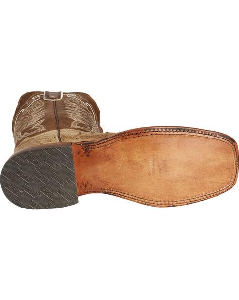 Tony Lama Men's Full Quill Ostrich Boot - Square Toe, Antique Tan, hi-res