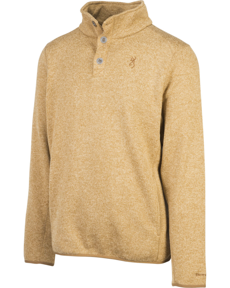 Browning Men's Tan Gilson Sweater , Tan, hi-res