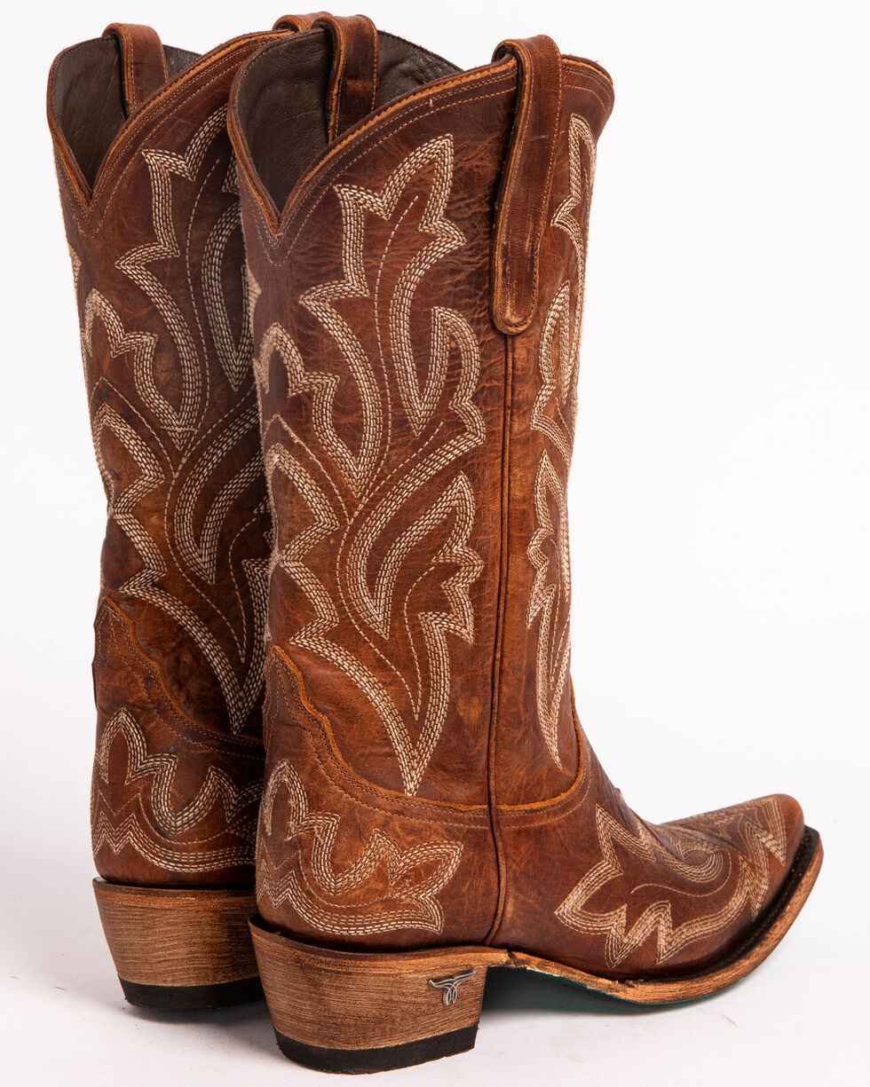 Lane Women's Saratoga Tan Cowgirl Boots - Snip Toe , Brown, hi-res