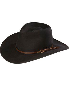 Stetson Bozeman Crushable Wool Hat, Black, hi-res