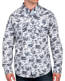 Moonshine Spirit Men's Paisley Print Western Shirt, , hi-res
