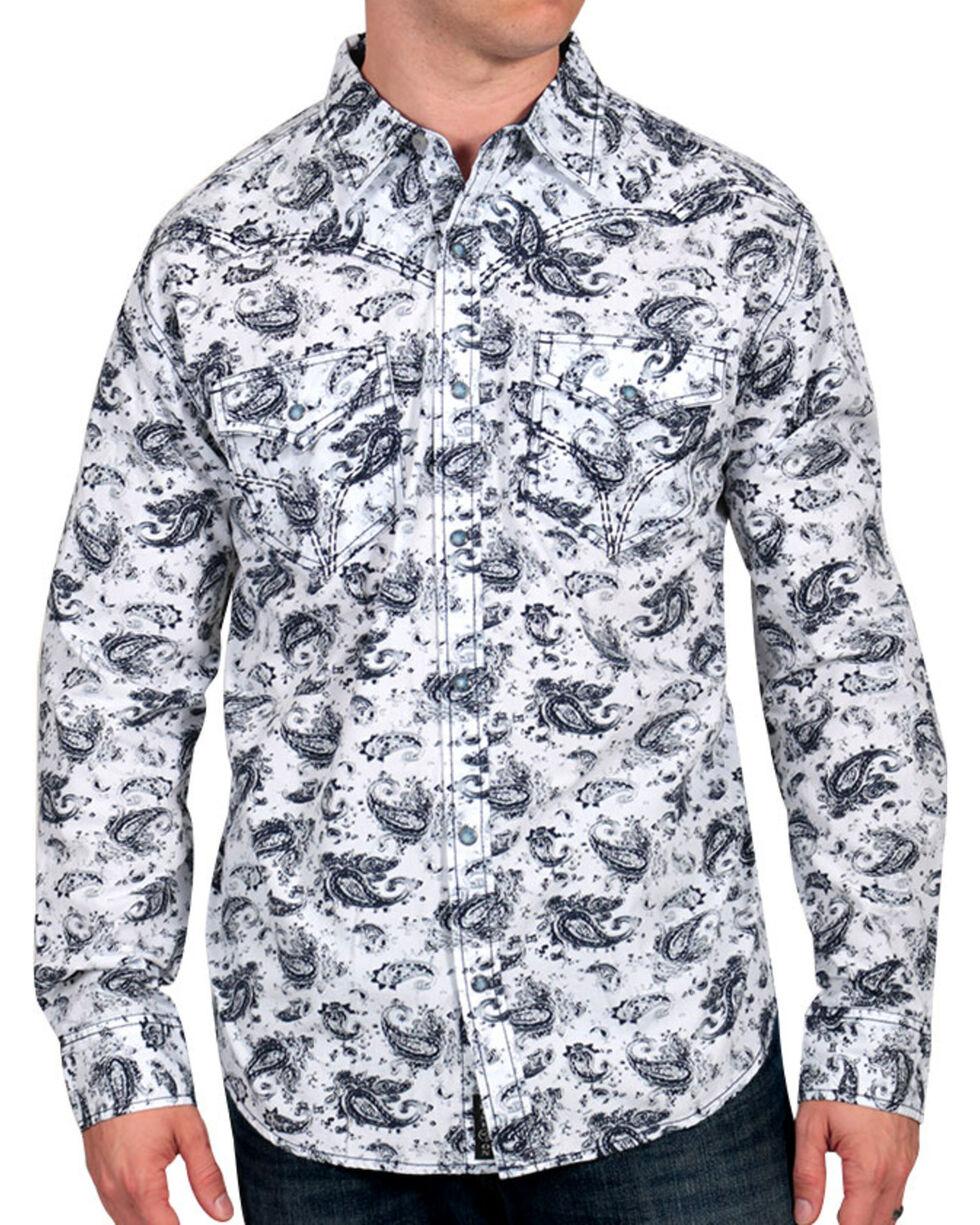 Moonshine Spirit Men's Paisley Print Western Shirt, , hi-res