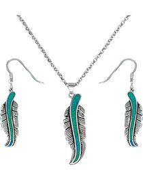 Montana Silversmiths Women's Storyteller Feather Jewelry Set, , hi-res
