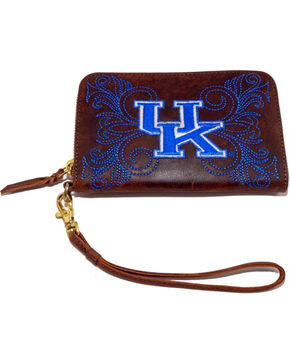 Gameday Boots Kentucky University Leather Wristlet, Brass, hi-res