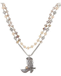 Shyanne®  Women's Layered Beaded Boot Necklace, , hi-res