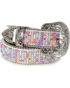Shyanne® Girl's Rhinestone Studded Belt, Multi, hi-res