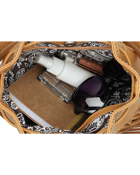 Bandana by American West Black Rio Rancho Drawstring Crossbody Bag, Black, hi-res
