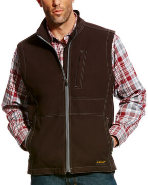 Ariat Men's Rebar Canvas Softshell Vest , Black, hi-res
