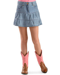 Ely Walker Girl's Denim Skirt, , hi-res