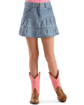 Ely Walker Girl's Denim Skirt, Light Stone, hi-res