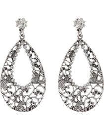 Shyanne® Women's Rhinestone Cutout Teardrop Earrings, , hi-res