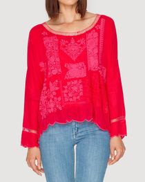 Johnny Was Women's Puzzle Scallop Top, , hi-res