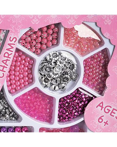 M&F Western Girls' Charm Design Set, Pink, hi-res