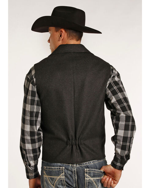Powder River Outfitters Men's Montana Wool Vest - Big & Tall, Dark Grey, hi-res