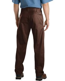 Dickies Slim Straight Work Pants, Brown, hi-res