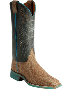 Justin Women's Bent Rail Cross Western Boots, Tan, hi-res