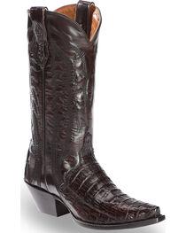 Dan Post Women's Caiman Belly Triad Cowgirl Boots - Snip Toe, Black Cherry, hi-res
