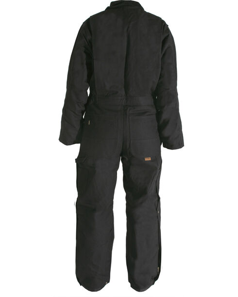 Berne Duck Deluxe Insulated Coveralls - Tall 5XT and 6XT, Black, hi-res
