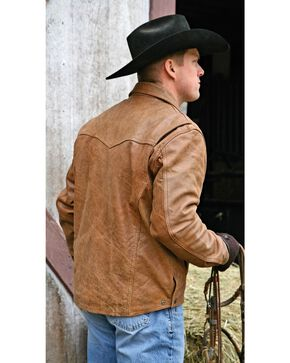 STS Ranchwear Men's Leather Vegas Jacket, Buckskin, hi-res