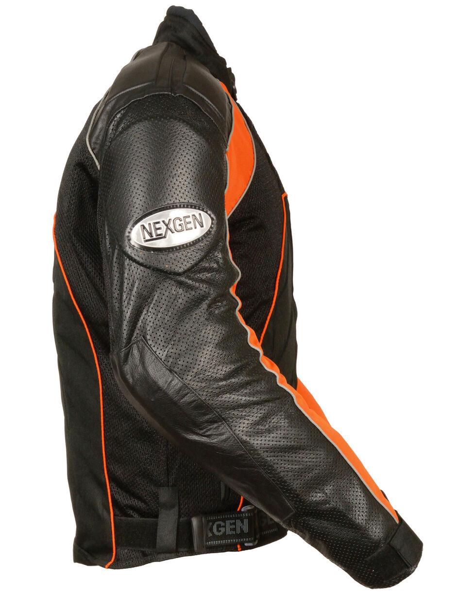 Milwaukee Leather Men's Combo Leather Textile Mesh Racer Jacket - 5X, , hi-res