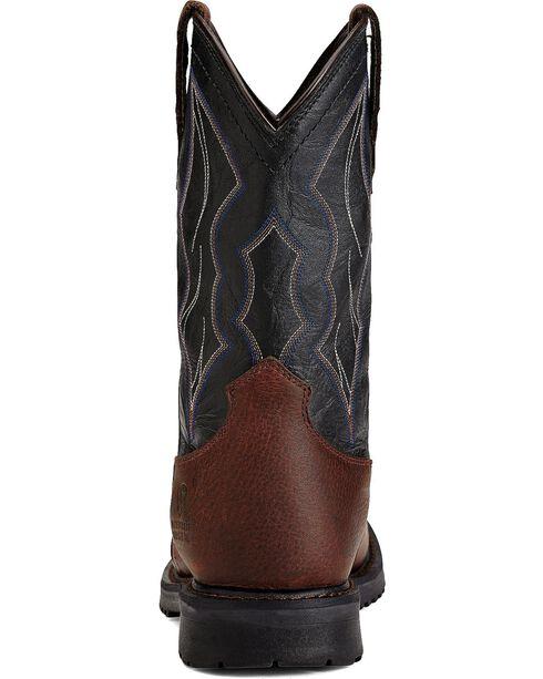 Ariat Men's RigTek Wide Square Toe H2O CT Work Boots, Brown, hi-res