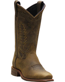 Abilene Women's Brown Western Cowgirl Boots - Square Toe, , hi-res