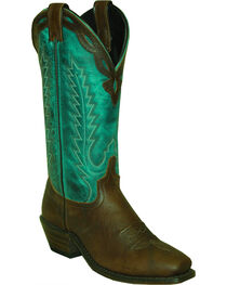 Abilene Women's Antiqued Cowhide Western Boots - Square Toe, , hi-res