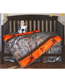Carstens Realtree AP & AP Blaze Camo Crib Set - 3 Piece , Orange, hi-res