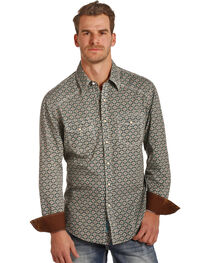 Rock & Roll Cowboy Men's Poplin Foulard Print Shirt , , hi-res