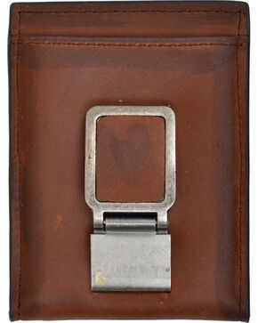 3D Men's Basic Money Clip Wallet with Bottle Opener, Brown, hi-res
