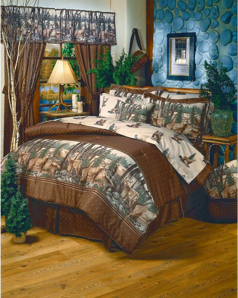 Blue Ridge Trading Whitetail Dreams Twin Comforter Set, Brown, hi-res