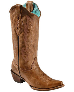 Corral Women's Vintage Western Boots, Tan, hi-res