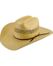 Bailey Western Sarge Cattleman Straw Hat, , hi-res