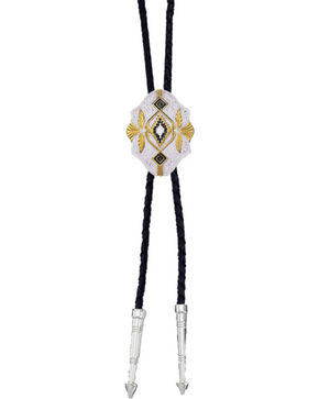 Montana Silversmiths Southwest Scalloped Bolo Tie, No Color, hi-res