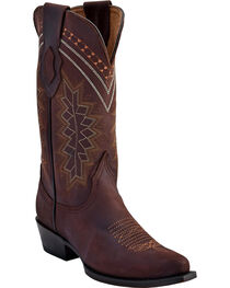 Ferrini Women's Chocolate Navajo Western Boots - Pointed Toe , Chocolate, hi-res