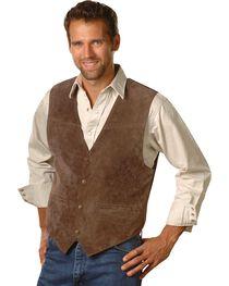 Scully Men's Boar Suede Snap Front Vest, , hi-res