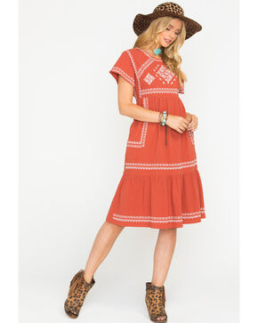 Polagram Women's Rust Valdez Dress , Rust Copper, hi-res