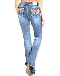 Grace in LA Women's Bright Embroidery Jeans - Boot Cut , , hi-res