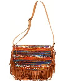 Blazin' Roxx Women's Southwest Fringe Messenger Bag, , hi-res