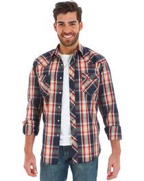Wrangler Men's Black Plaid Fashion Snap Long Sleeve Shirt - Big & Tall, , hi-res
