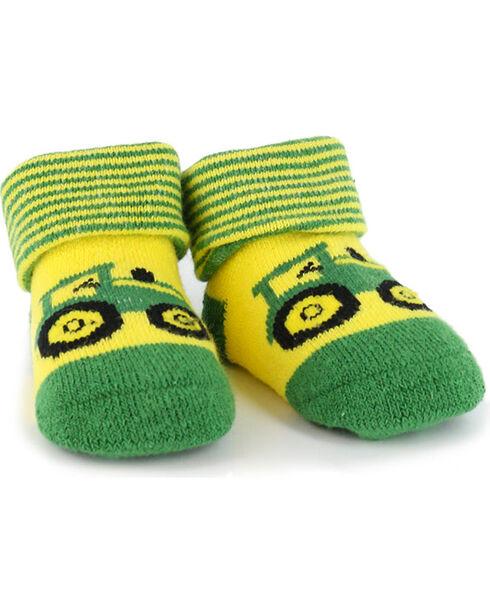 John Deere Newborn Baby Booties, Green, hi-res