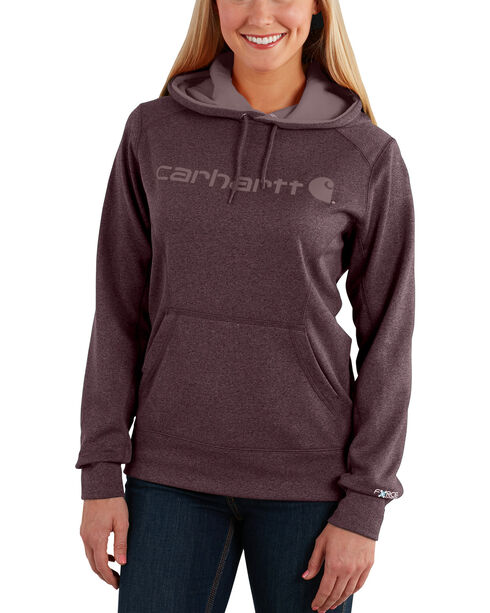 Carhartt Extremes® Women's Force Signature Graphic Hooded Sweatshirt, Medium Brown, hi-res