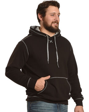Hooey Men's Black Reflective Print Hoodie , Black, hi-res