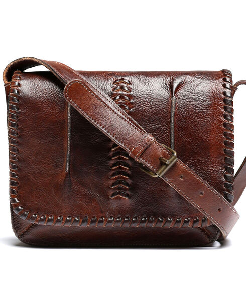 Bed Stu Women's Frankie Teak Rustic Crossbody Bag, Dark Brown, hi-res