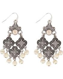 Shyanne® Women's Medallion Chandelier Earrings, , hi-res