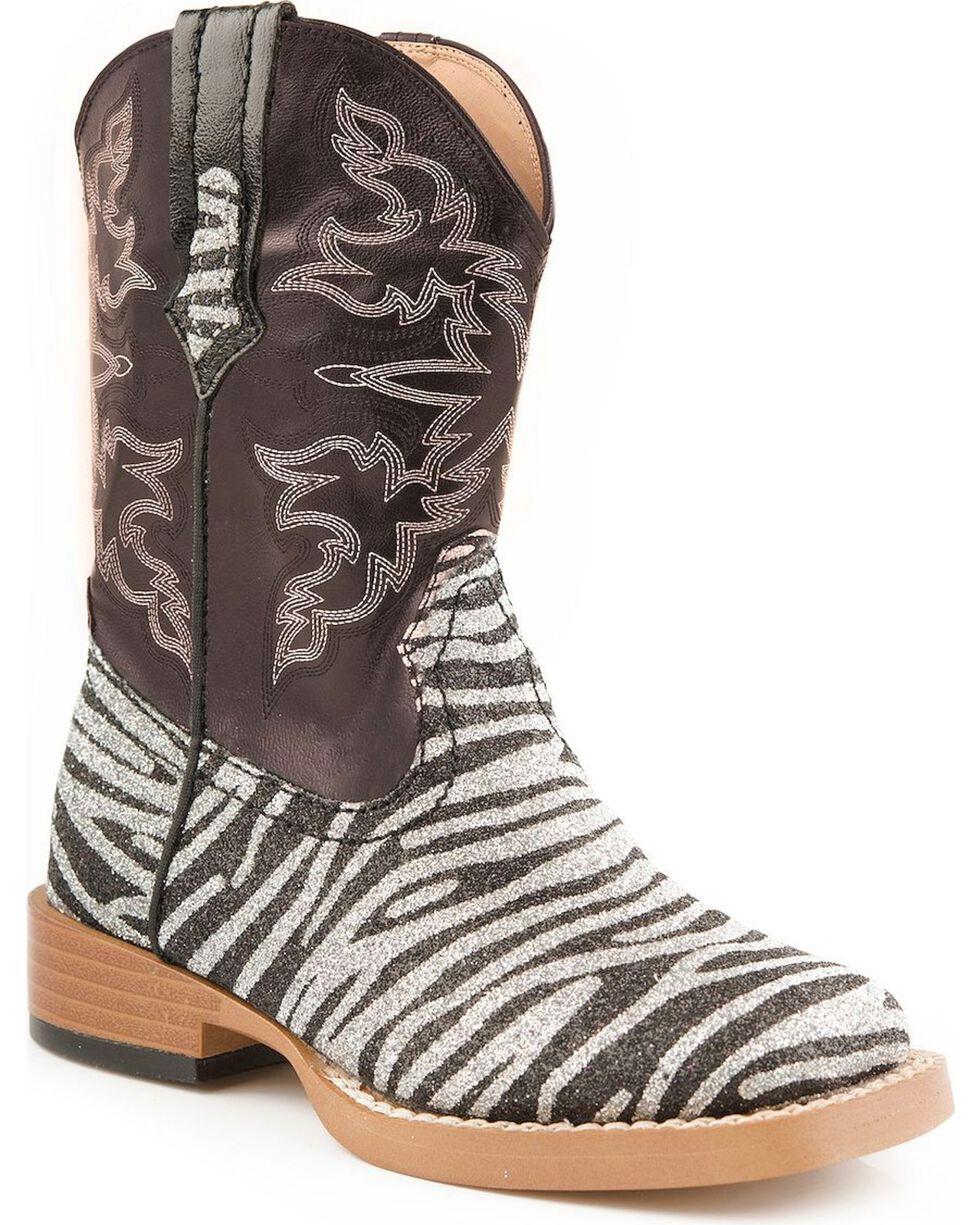Roper Infant Western Boots, Zebra, hi-res