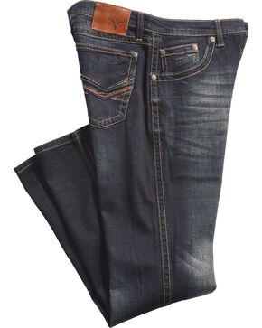 Wrangler 20X Men's No. 42 River Stonewash Boot Cut Jeans - Tall, Blue, hi-res
