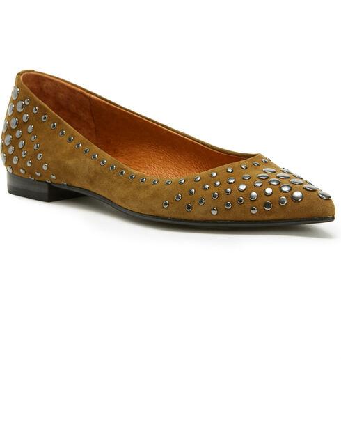 Frye Women's Khaki Sienna Multi Stud Ballet Flats - Pointed Toe, Beige/khaki, hi-res