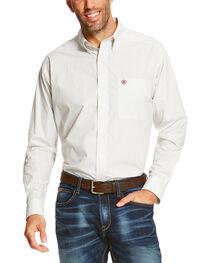 Ariat Men's White Silverado Long Sleeve Western Shirt , , hi-res