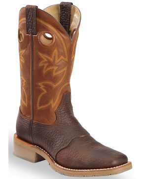"Double-H Men's 12"" Western Work Boots, Rust, hi-res"